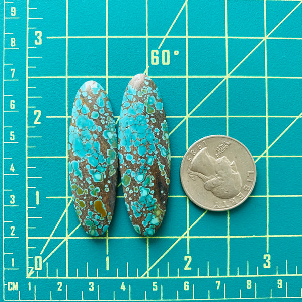 Large Ocean Blue Surfboard Treasure Mountain, Set of 2 Dimensions