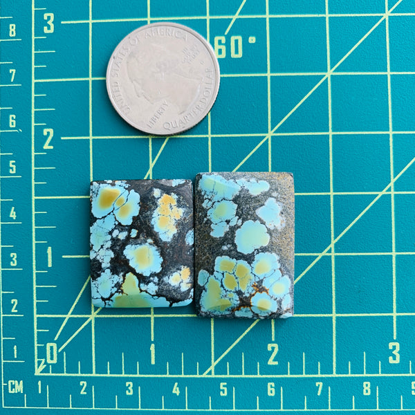 Large Faint Blue Rectangle Giraffe, Set of 2 Dimensions