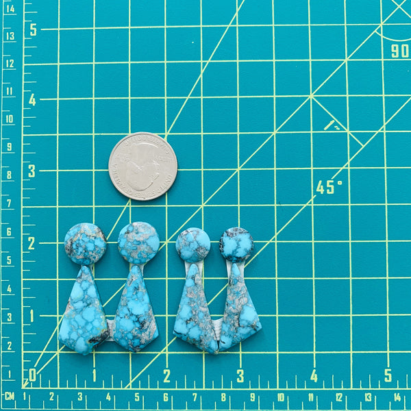 Mixed Sky Blue Yungai, Set of 4 Dimensions