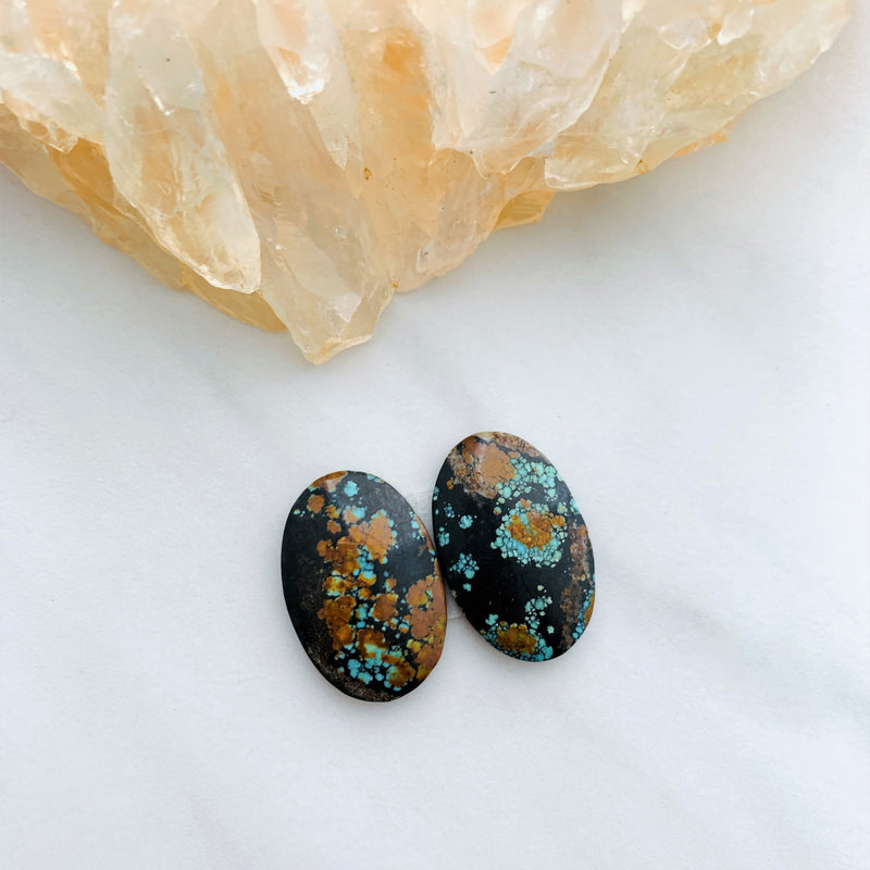 Medium Earth Brown Oval Treasure Mountain, Set of 2 Background