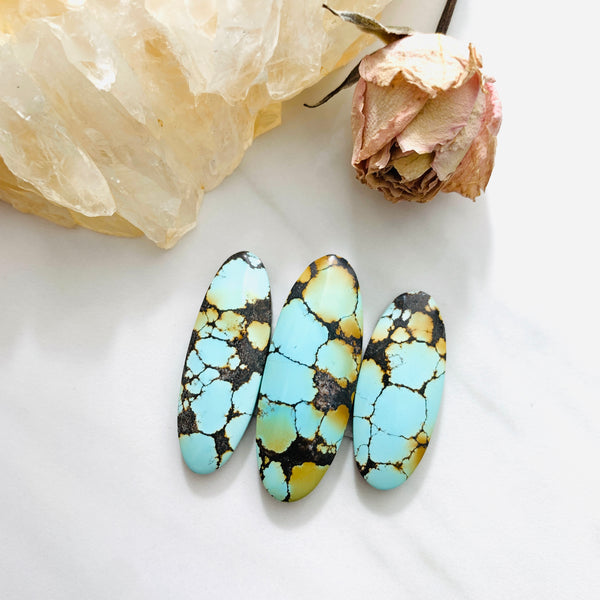 Large Faint Blue Surfboard Treasure Mountain Turquoise, Set of 3 Background