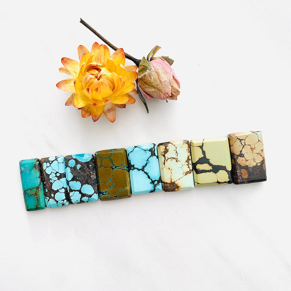 Medium Mixed Bar Mixed Turquoise, Set of 8 Background