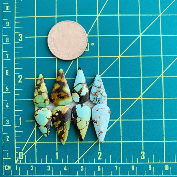 Small Mixed Teardrop Mixed, Set of 8 Dimensions