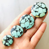 Yungai Turquoise Perfect Round Shaped Necklace Set All Natural