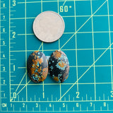 Medium Earth Brown Oval Treasure Mountain, Set of 2 Dimensions