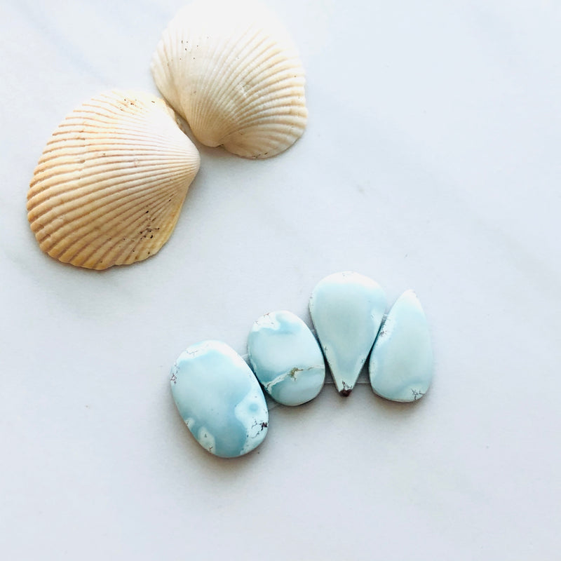 Small Mix Sand Hill Turquoise, Set of 4