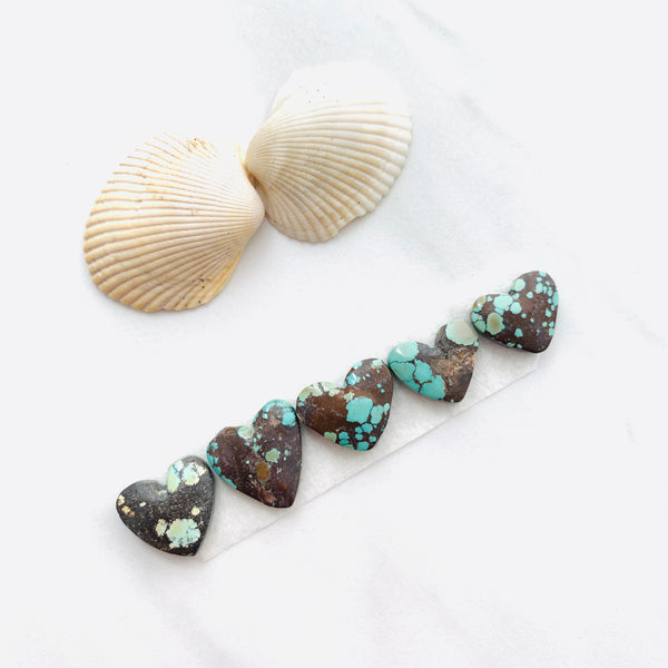 Medium Sea Green Heart Treasure Mountain, Set of 5 Background