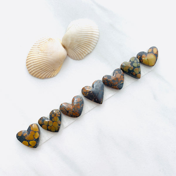 Medium Earth Brown Heart Treasure Mountain, Set of 7 Background