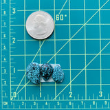 Small Sky Blue Wulan Flower Turquoise, Set of 3
