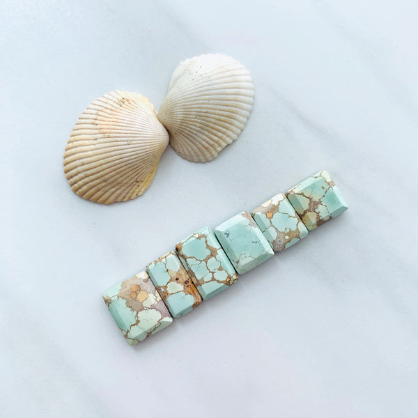 Small Mint Green Mixed Sand Hill, Set of 6 Background