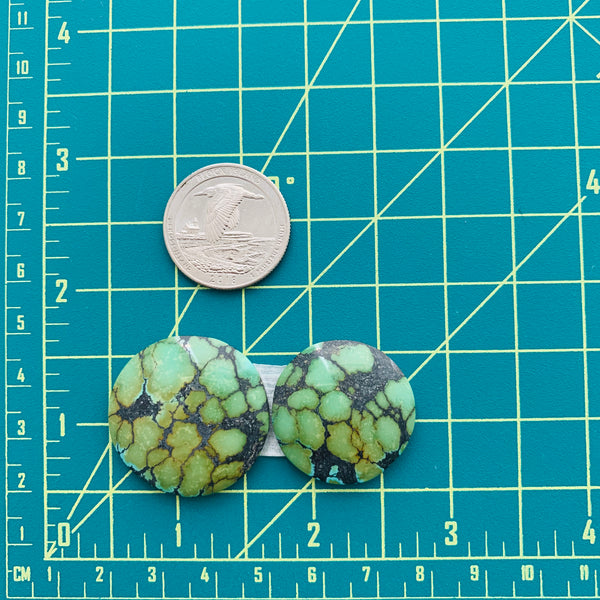 Large Sea Green Round Treasure Mountain, Set of 2 Dimensions