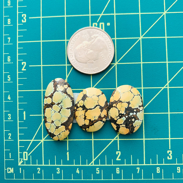Large Earth Brown Mixed Treasure Mountain Turquoise, Set of 3 Dimensions