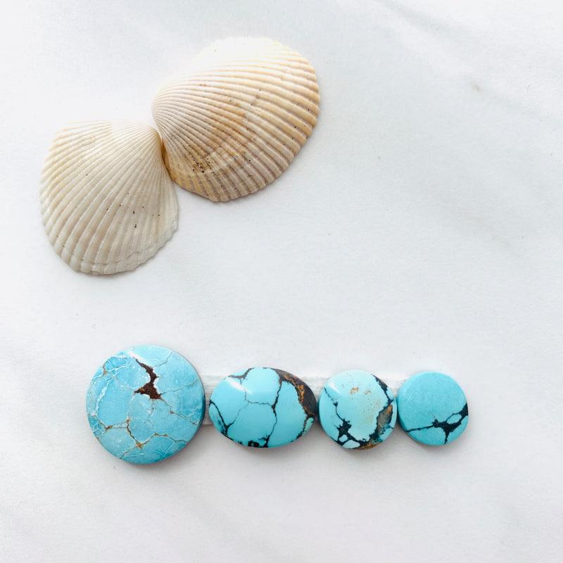 Medium Sky Blue Yungai Turquoise, Set of 4
