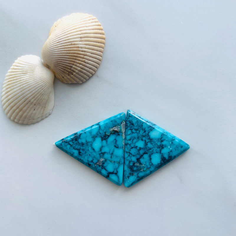 Medium Sky Blue Yungai Turquoise, Set of 2