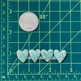 Medium Heart Sand Hill Turquoise, Set of 4