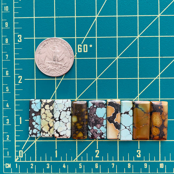 Medium Mixed Bar Mixed, Set of 9 Dimensions