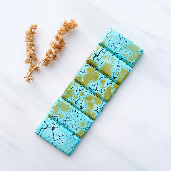 Large Sea Green Bar Giraffe, Set of 6 Background