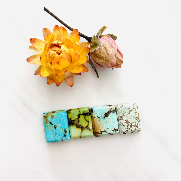 Small Mixed Bar Mixed Turquoise, Set of 4 Background