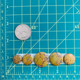 Large Earth Brown Round Treasure Mountain, Set of 5 Dimensions