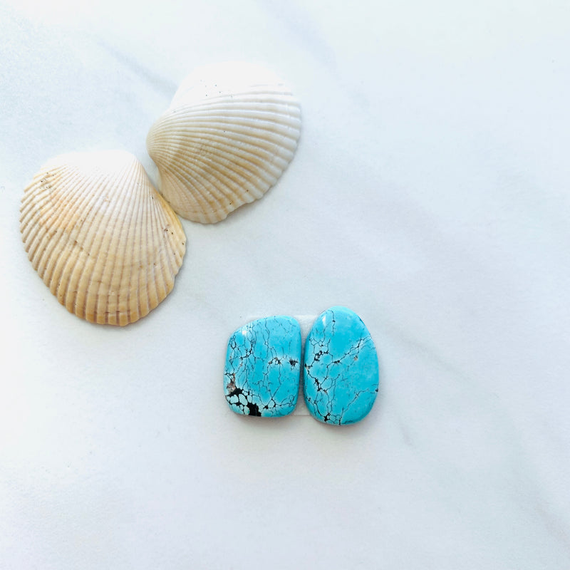 Small Sky Blue Yungai Turquoise, Set of 2