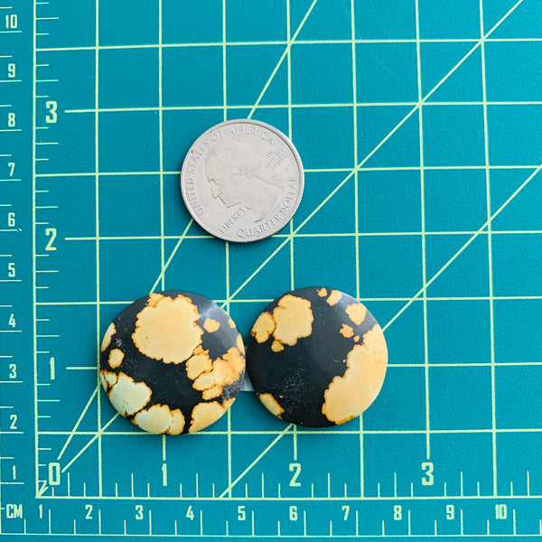 Large Royal Orange Round Treasure Mountain, Set of 2 Dimensions