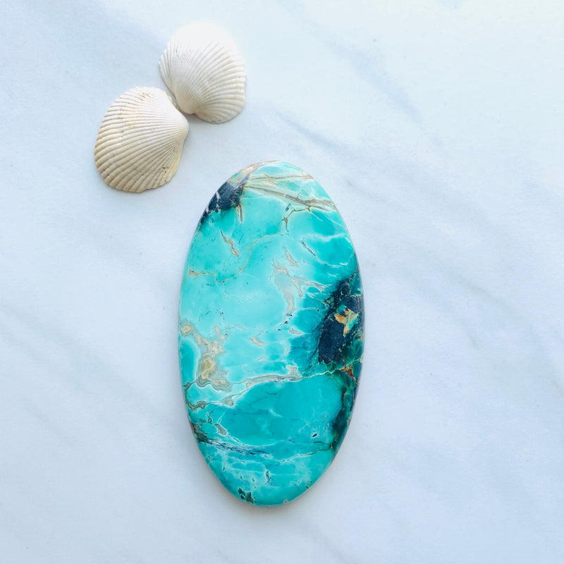 Large Mint Green Crescent Lake Variscite