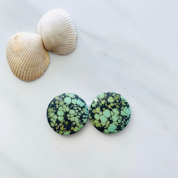 Medium Lake Green  Bamboo Mountain Turquoise, Set of 2