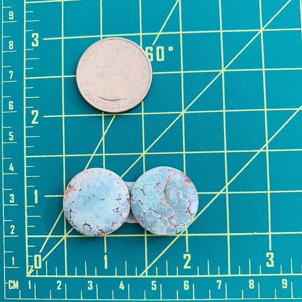 Large Faint Blue Round Sand Hill, Set of 2 Dimensions