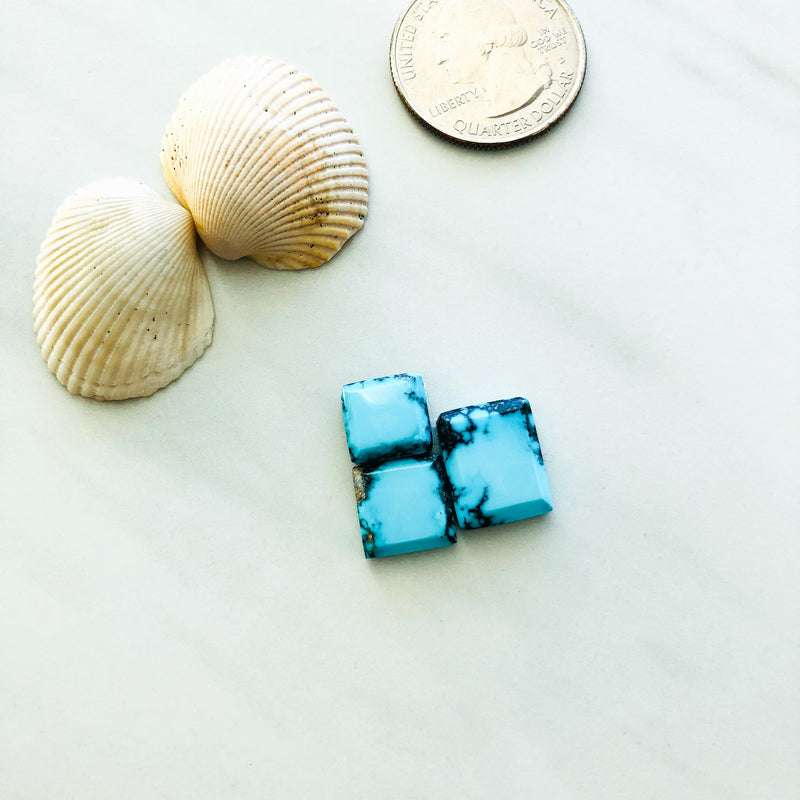 Small Square Yungai Turquoise, Set of 3