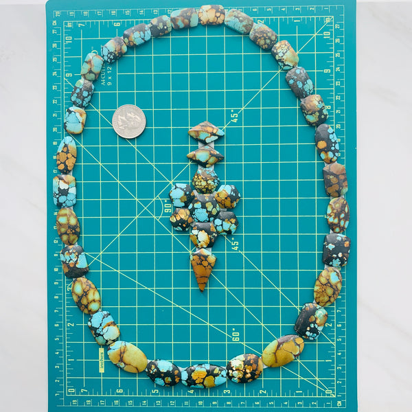 Mixed Sky Blue Treasure Mountain, Set of 40 Dimensions