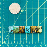 Small Rectangle Mix Turquoise, Set of 6
