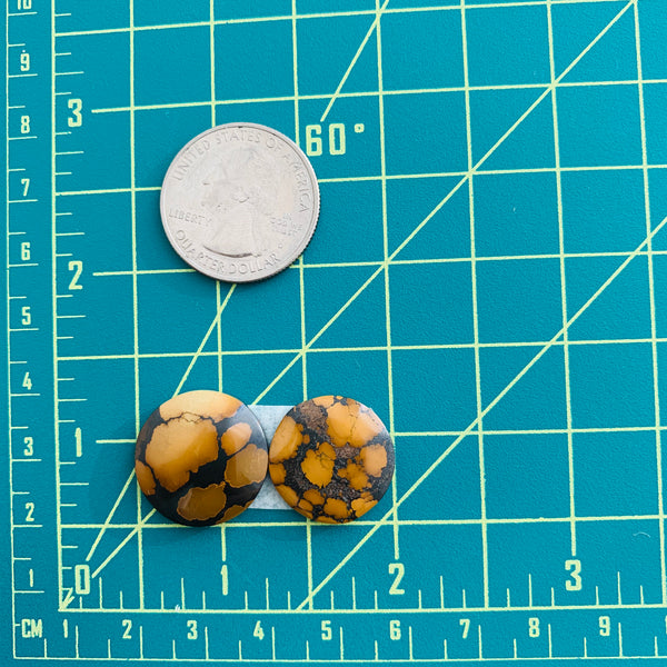 Medium Earth Brown Round Treasure Mountain, Set of 2 Dimensions