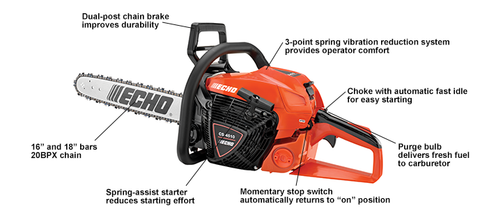 "Echo CS-4510 18"" Chainsaw"