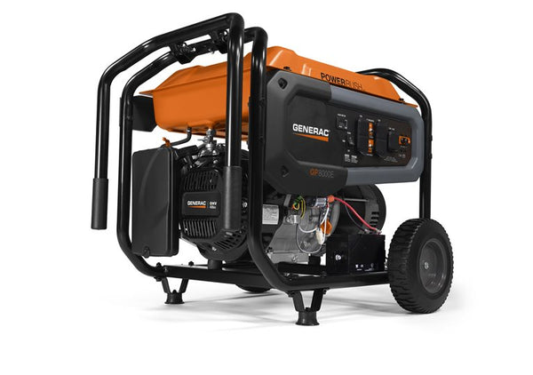 GP8000E 8000 Watt - Generac PowerRush Portable Gasoline Generator 49ST 7686