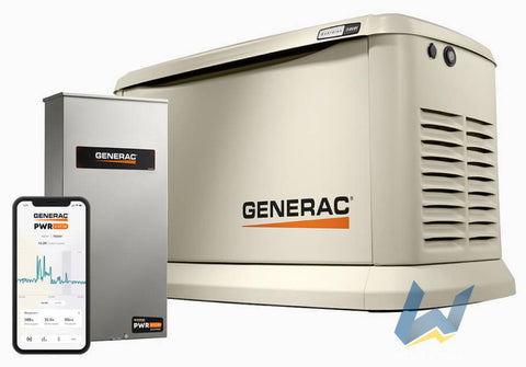 24 kW Generac Guardian Series Home Standby Generator with 200-Amp PWRview Automatic Transfer Switch | 7210