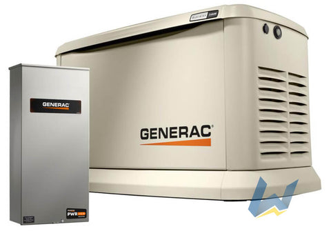 22 kW Generac Guardian Series Home Standby Generator with 200-Amp SE Rated Automatic Transfer Switch | 7043