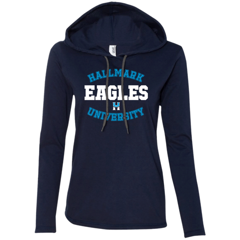 HU Eagles Anvil Ladies' LS T-Shirt Hoodie