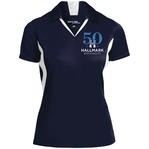 HU 50th Sport-Tek Ladies' Colorblock Performance Polo