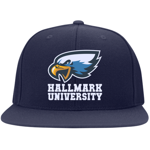 HU Eagles Sport-Tek Flat Bill High-Profile Snapback Hat