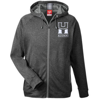 HU Alumni Team 365 Men's Heathered Performance Hooded Jacket