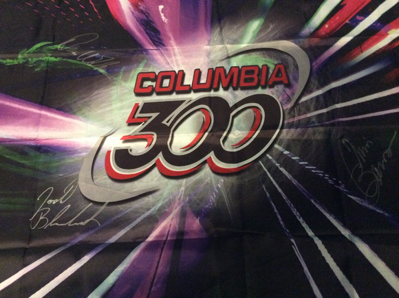 Columbia 300 Banner Autographed