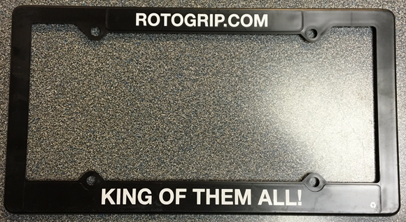 Roto Grip Bowling License Plate Frame