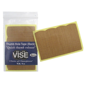 Vise Bowling TA-1c Thumb Hole Tape (2 Packs/4 Pieces Each)