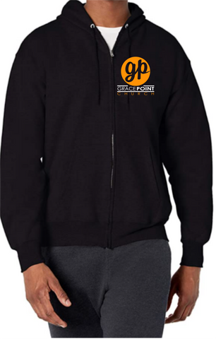 Black Zip Grace Point Hoodie