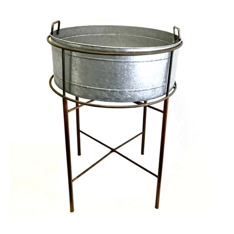 Wash Tub with Rusty Stand