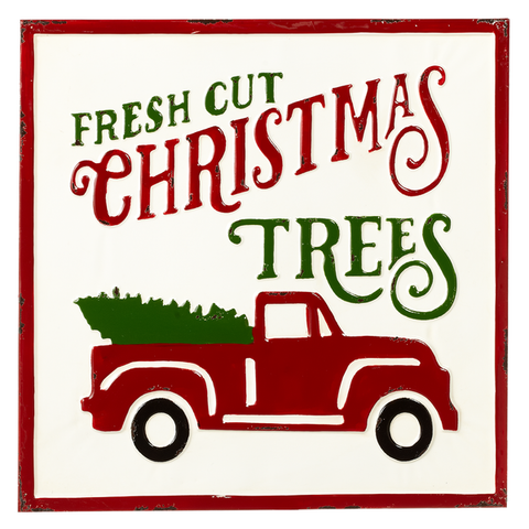 "Enamel ""Fresh Cut Christmas Tree"" Wall Decor"