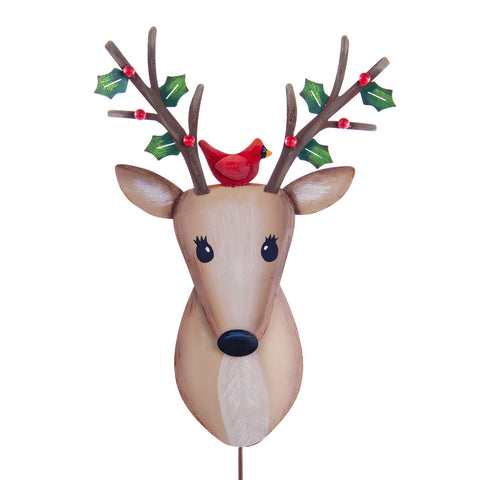 Christmas Deer with Bird
