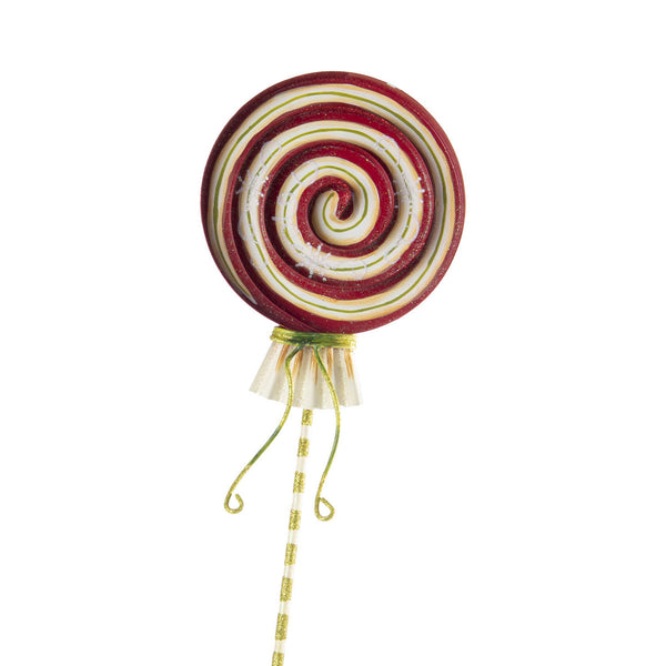 Large Peppermint Swirl Lollipop