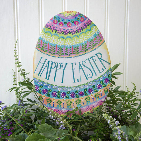 "Folk-Art ""Happy Easter"" Egg"