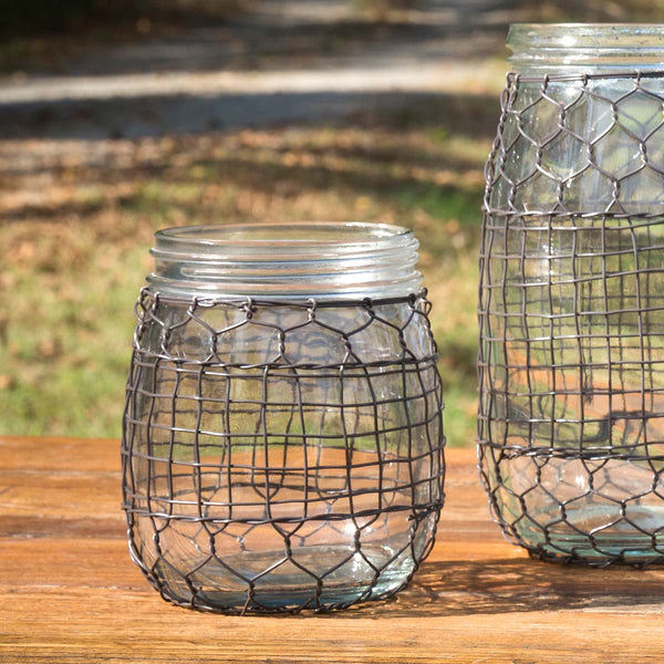 Primitive Wire-Covered Barrel Jar